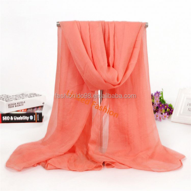 stock pareo fashion new design plain print chiffon scarf solid batik sarong fabrics Assorted Colors