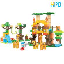China toy manufacturer toys & kids children plastic building blocks for 111 pcs DIY ZOO