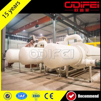 high oil yield continuous waste tyre pyrolysis plant