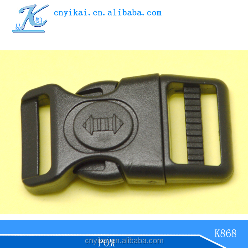 double adjustable buckle Curved Plastic Buckles with lock
