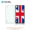 2D DIY Sublimation Plastic Phone Case For Huawei P7, Customized Phone Cover