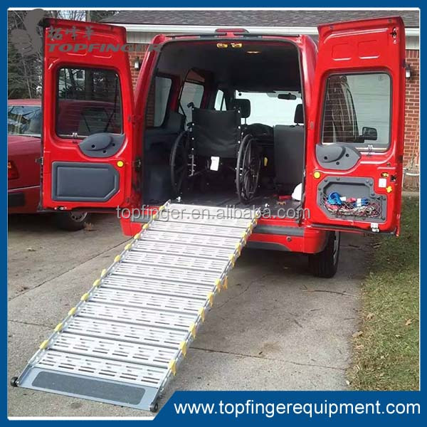 Factory price aluminum manual folding ramps for van and minibus