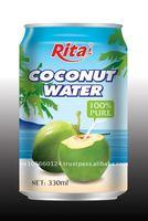 Rita big brand Viet Nam 100% Natural Coconut Water Juice