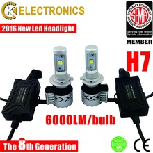 Super bright 40W H7 led car headlight with cree chips