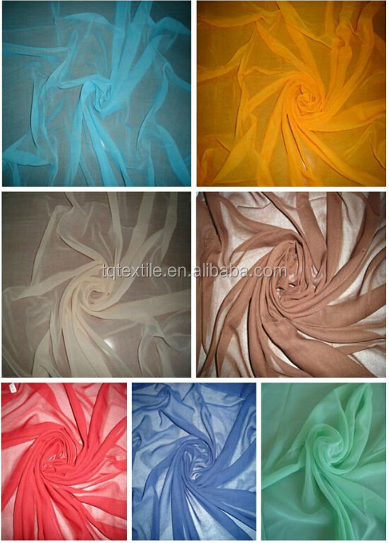 spun polyester voile fabric 60s*50s for headscarf muslim hijab