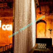 luxury silver tone 10mm metal beaded curtain drapery