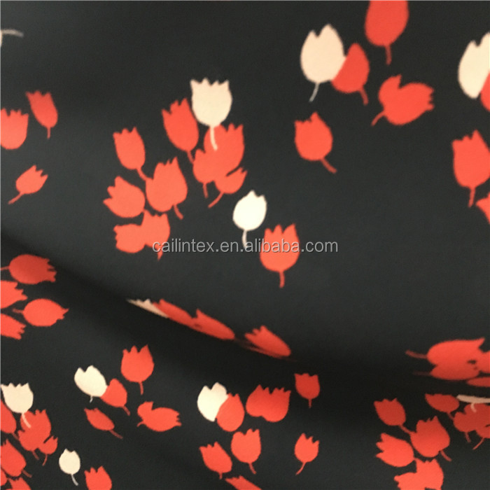 Hot Sell Polyester Silk Like Floral Print Silk Satin Chiffon Fabric for African Print Skirt