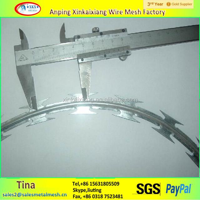BTO22 razor concertina razor barbed wire, galvanized razor wire