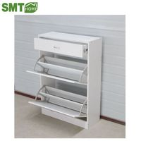 wood shoe rack 2 doors white PB own factory cheap price for sale