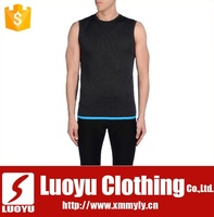 100% cotton sport mens tank top high quality sleeveless t shirt wholesale