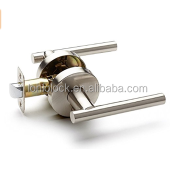 USA,Canada ,Australia market modern Privacy door (bed /bath) Passage (hallway) brushed nickel Euro lever Door Lever set lock