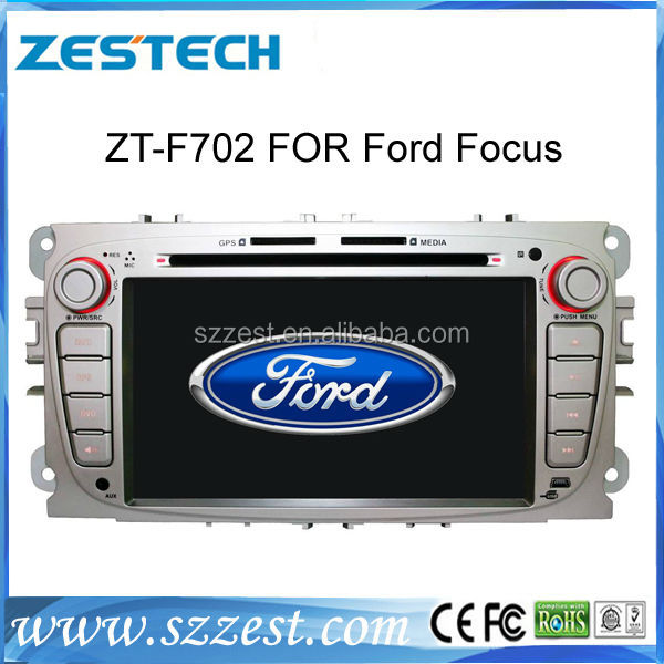 ZESTECH high quality HD touch screen car dvd player for ford focus car radio with gps usb sd dvd bt phonebook 3g Manufacturer A8