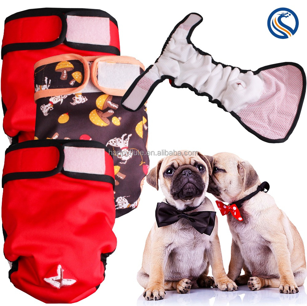 Happy flute washable reusable dog diaper pet dipaer absorbent