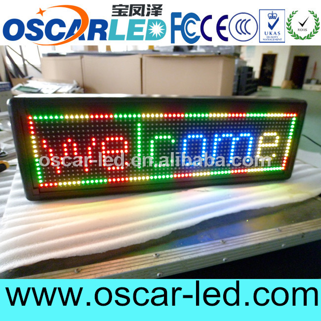 shenzhen moving message led sign/led advertising display usb control card TF-AU card