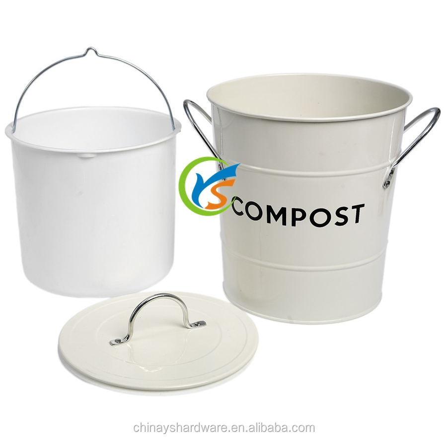 Galvanized metal kitchen compost bin with plastic inner buy kitchen compost bin metal compost - Best compost for flower pots solutions within reach ...