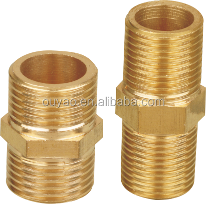 Customized Wholesale Brass Plumbing Fittings Nipple Brass Nipple Extension Nipple