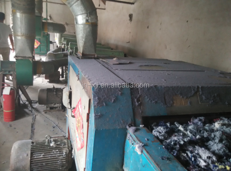Cotton waste recycling machine for ring spun