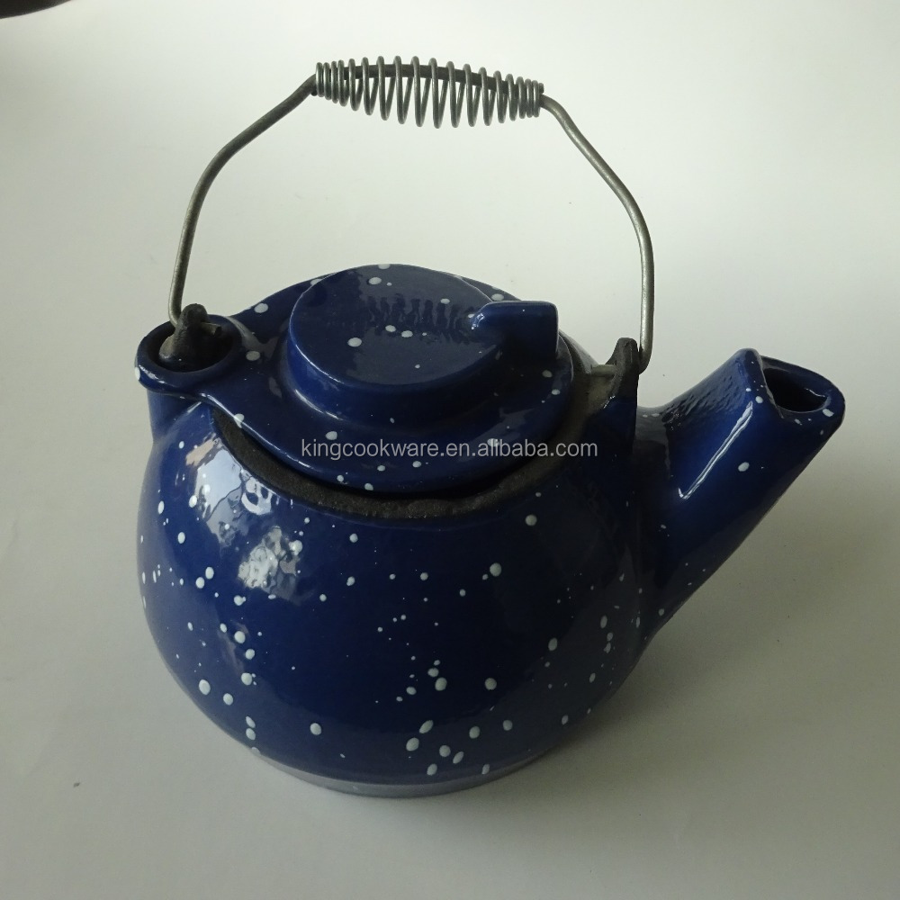 High quality Chinese cast iron tea kettle with enamel coating