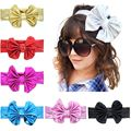 Gold Color Kids Girl Hair Bow Headband