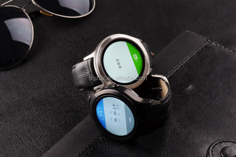 Android 4.4 Smart watch Android Wear GPS WIFI watch with SIM slot round face smartwatch