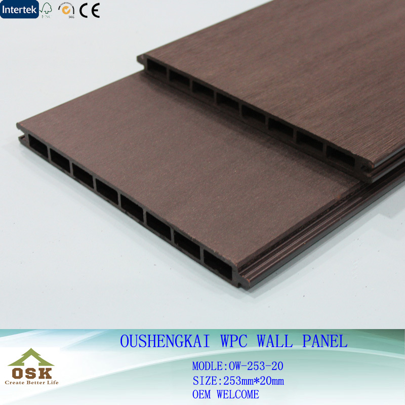 Long Lifetime Exterior WPC Wall Panel Cladding