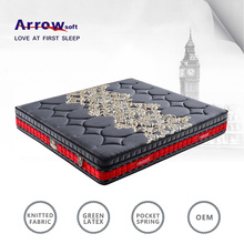 super soft bedroom pocket spring latex princess mattress