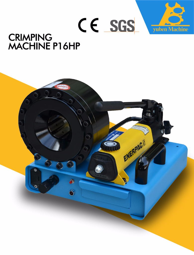 Mini manually operated portable hydraulic hose crimping machineYB-P16HP hose crimper