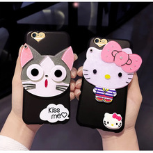 2017 new fashion cute HT cats mobilel phone cases with mirror for iphone