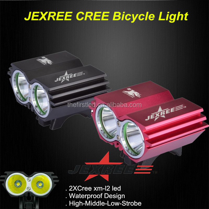 JEXREE 2000 lume Rechargeable T6 CREE led light <strong>bike</strong>