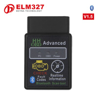 [100PC/ LOT] Wholesale DHL Free Shipping obd ii vgate elm 327 elm327 bluetooth scanner Black Color works on Android