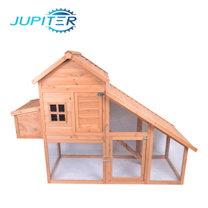 Waterproof wooden chicken coop cage house with large run