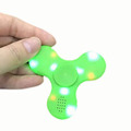 High quality triangular game finger toy led hand spinner with wireless speaker