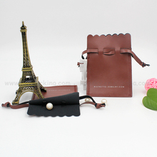 Luxury & fashionable 2017 design drawstring pu leather pouch bag for watch bracelet coins etc