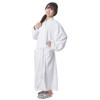 high quality luxury personalized custom terry bathrobe for women