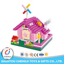 Hot selling plastic puzzle mini house model toy for kids