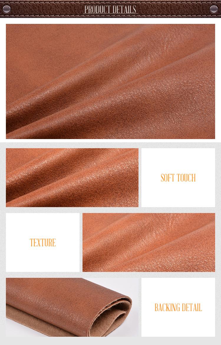 retro style nonwoven price meter PVC artificial leather for furniture