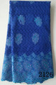 African cupion lace fabric, African cord lace fabric, guipure lace fabric 2126-Royal Blue