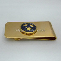 art and craft metal gold money clip for gifts items