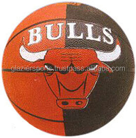 Rubber Basketball with Bull Design