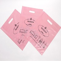 Design your own logo HDPE shopping plastic bag manufacturer