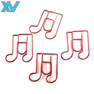 Fancy design music note shape metal clip as promotional gift