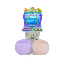 Yonee Newest hot sale double players coin operated kids fishing game for kids ery ticket machine for sale
