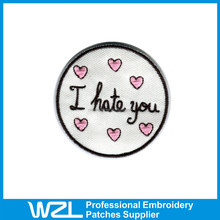 Wholesale professional embroidered patch with adhesive back