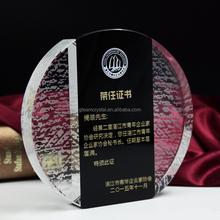 Cheap new design Crystal Glass Trophy Award for business Souvenir gift