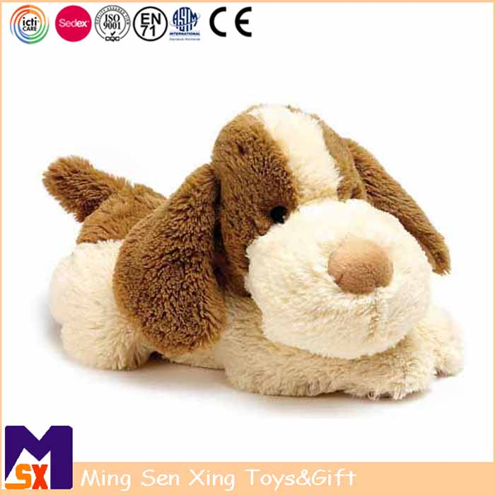 Factory custom floppy big eyes plush dog toy lovely gifts stuffed farm animal cartoon dog