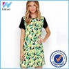 Yihao Trade Assurance 2015 new summer dresses green print lady fashion dress