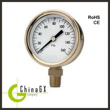 "40mm /1.5"" aluminium oil filled fuel lpg pressure gauge"