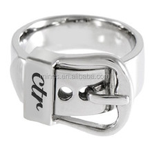 Womens Stainless Steel Buckle CTR Ring for Girls