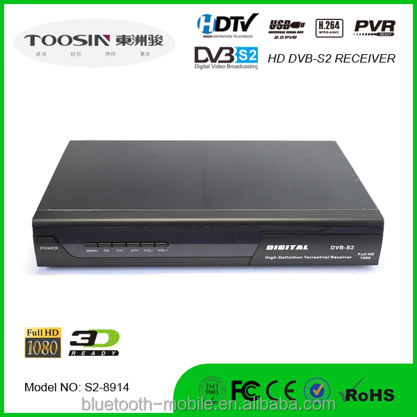 Satellite Receiver hd 1080p Freeview HD DVB-S2 set top box USB PVR Recording