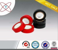 Red rubber adhesive gummed pvc electrical insulation tape